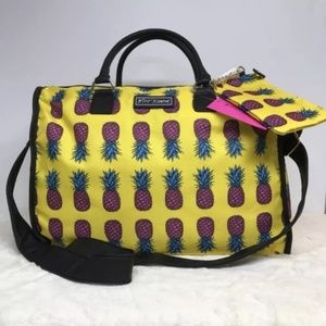 Betsey Johnson Weekender Travel Luggage Pineapple